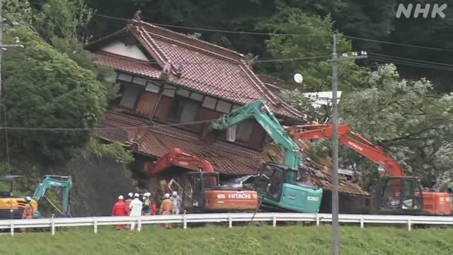 【広島】「死ぬる、死ぬる」男性の叫び声 東広島の土砂崩れ、親子2人が死亡…市「職員が避難勧告を見落としてしまった」  [ばーど★]