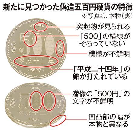 【速報】偽造五百円硬貨、多数見つかる  一体誰が・・・