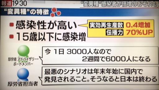 厚労省「変異種が発見されたので日本は終わりです。突然こんなことを言ってごめんね、でも本当です」