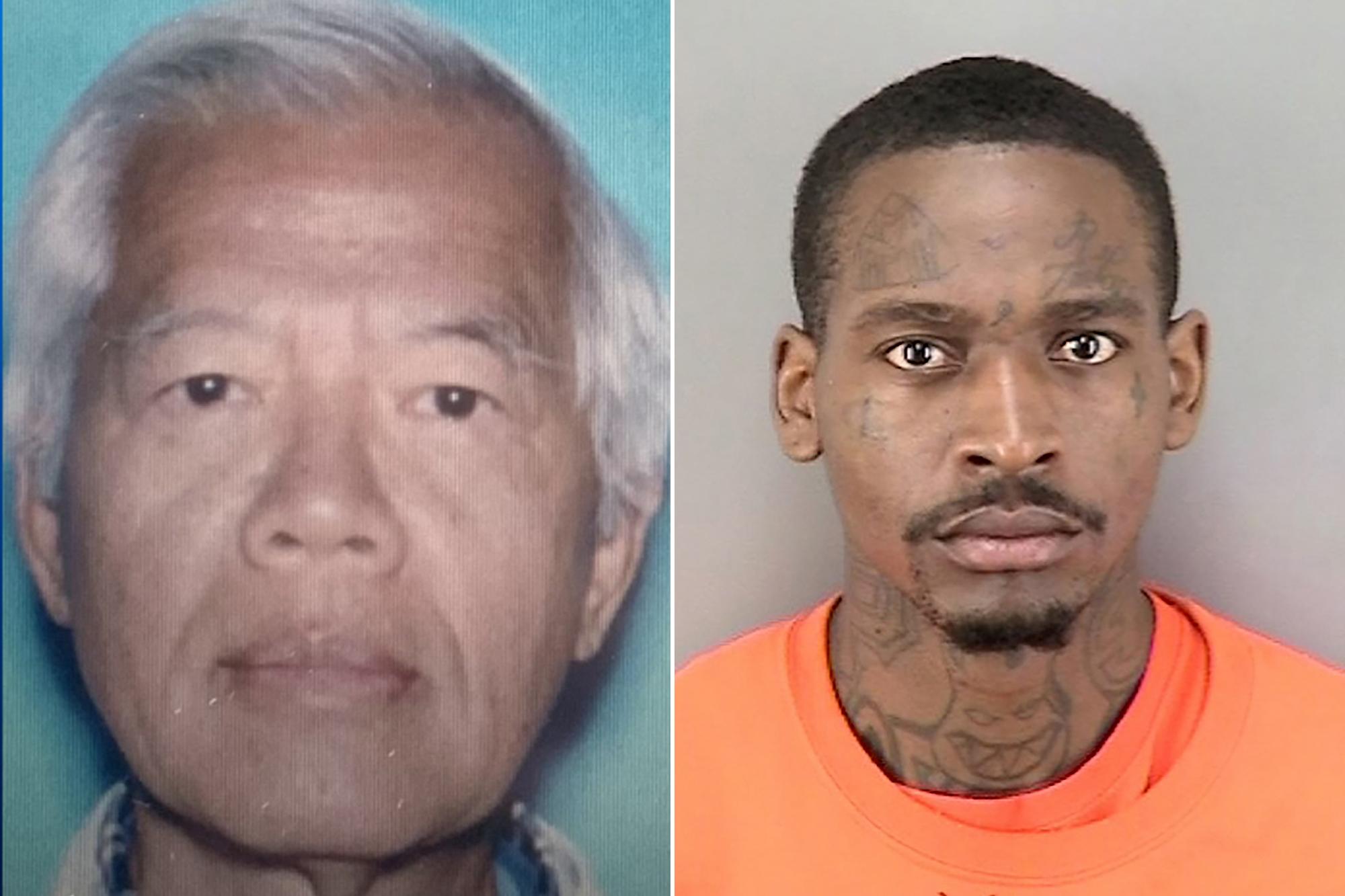 """【速報】 アメリカでアジア男性(75)が顔面を石で殴られて死亡、犯人は""""アジア人狩り""""の常習 顔あり"""