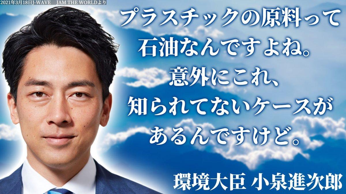 【天才】小泉進次郎 環境大臣(39)「プラスチックの原料って石油なんですよ!意外にこれ知られてないんですけど」  ★18  [potato★]