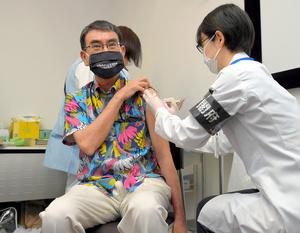【速報】河野太郎(58)、ワクチン接種  [雷★]