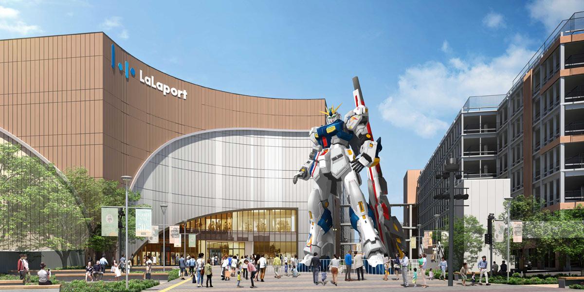 【地域】福岡市の「ららぽーと福岡」に実物大の「νガンダム」立像。2022年春に公開  [記憶たどり。★]